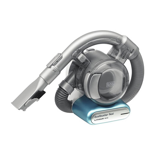 The Black+Decker is a small model that is between a standard handheld and a cordless vacuum