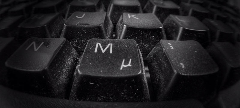 An example of a dirty keyboard