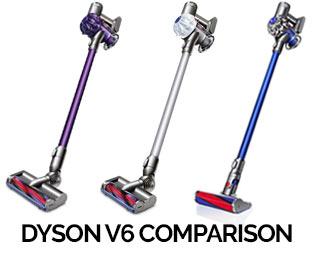 We compare the Dyson V6 range