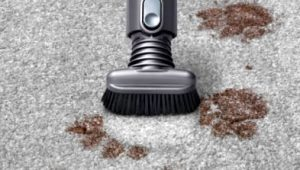 The stubborn dirt brush can be used for trickier patches