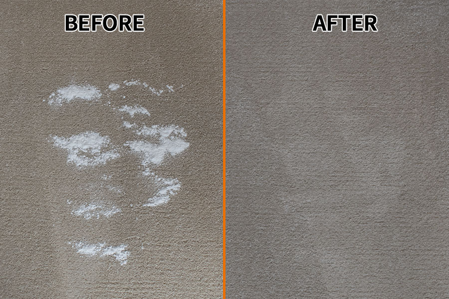 Carpet - Baking Powder Test