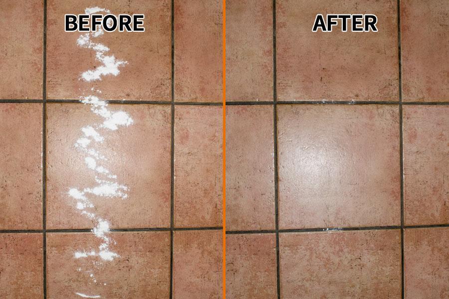 Tile Baking Powder Test