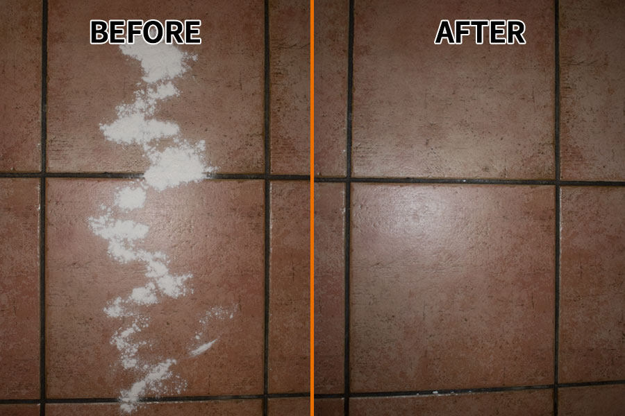 Tile baking powder