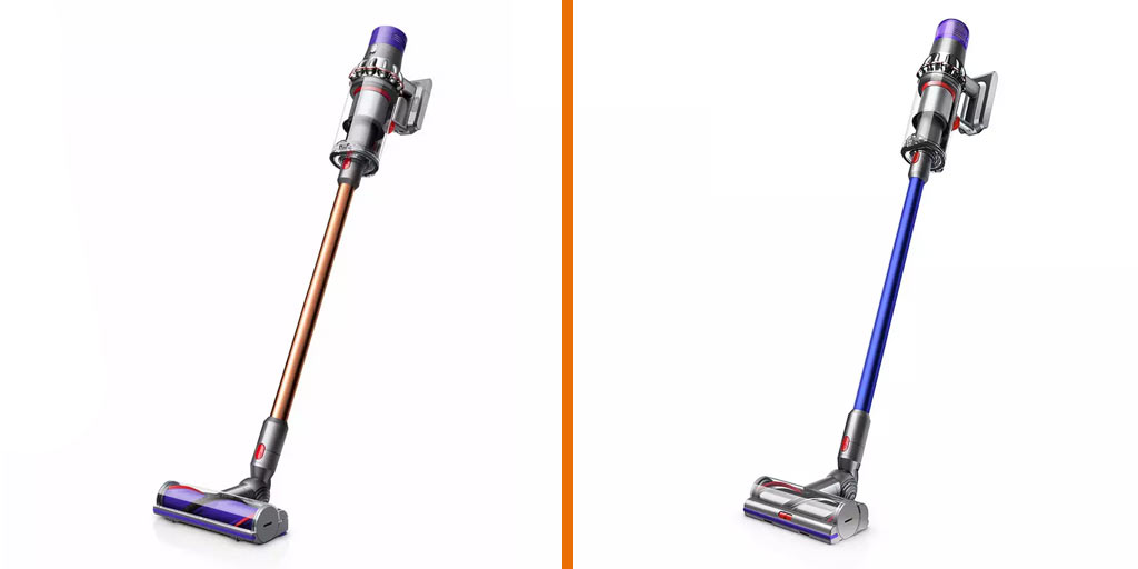 A comparison of the Dyson V11 and V10