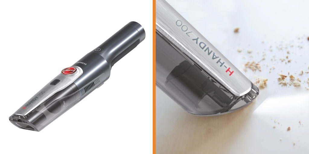 Split image of the Hoover H-Handy 700 Express HH710M